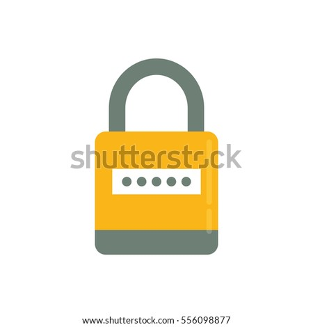 Security padlock system icon vector illustration graphic design