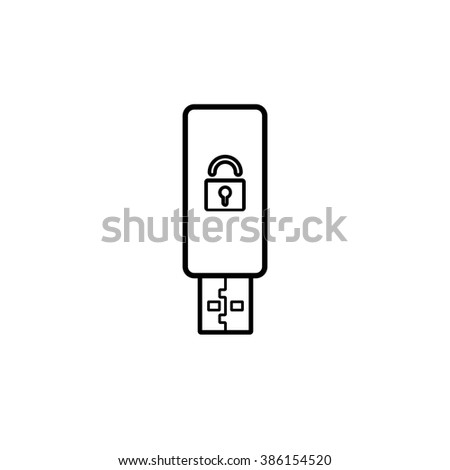 security set flashcard safety line icon - stock vector