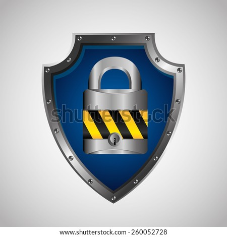 security shield design, vector illustration eps10 graphic  - stock vector