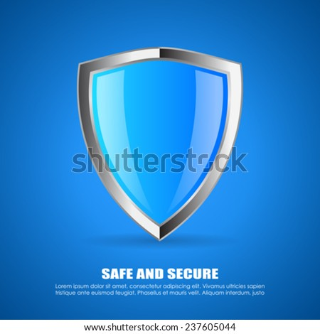 Security shield icon - stock vector