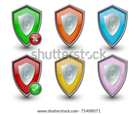 Security Shield Icon multicolor Pack