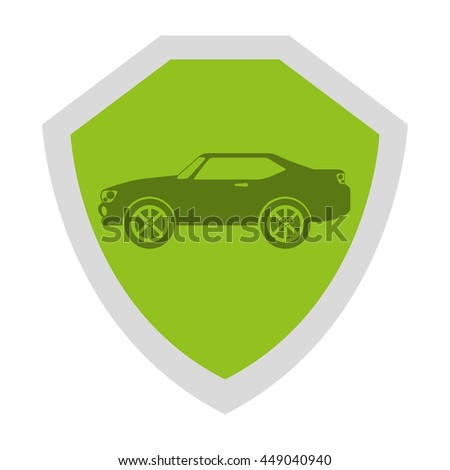 security shield isolated icon design, vector illustration  graphic