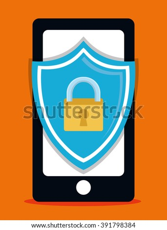 Security system design - stock vector