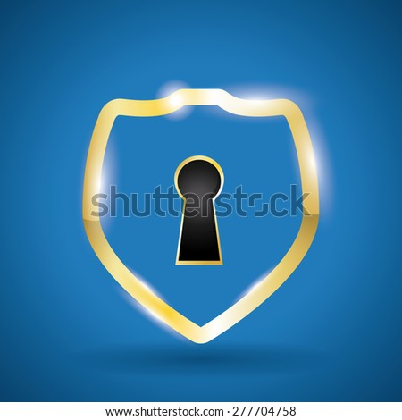 Security system design over blue background, vector illustration. - stock vector