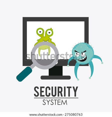 Security system design over white background, vector illustration.