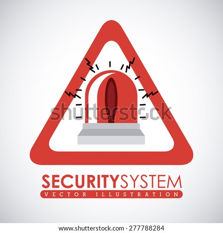 Security system design over white background, vector illustration