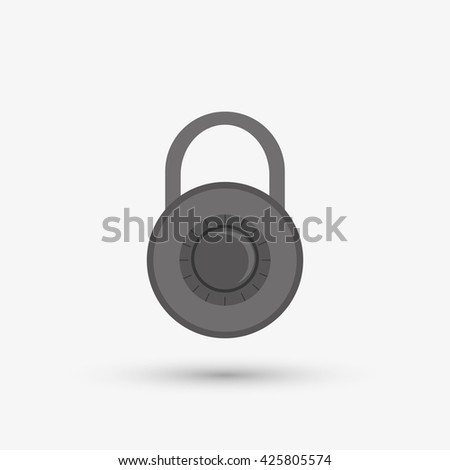 Security system design. protection icon.  isolated illustration