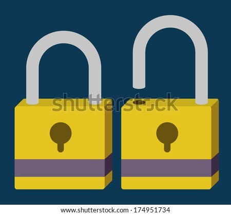 security system over blue  background vector illustration