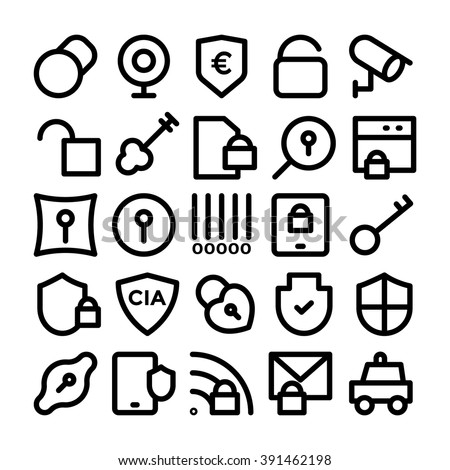 Security Vector Icons 5 - stock vector