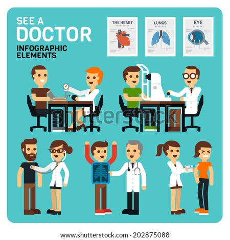 See a Doctor Infographic Elements - stock vector
