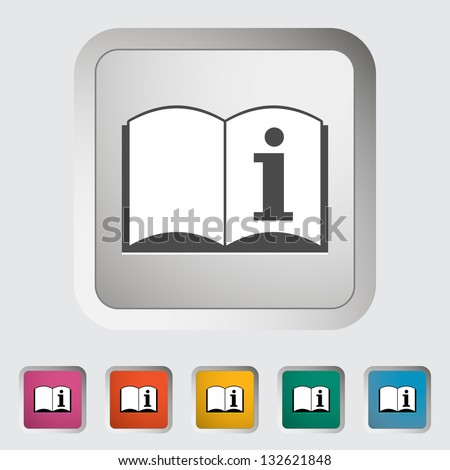 See owner's manual. Single icon. Vector illustration. - stock vector