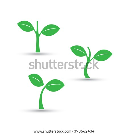 Seedling, Small Plant Design Set - stock vector