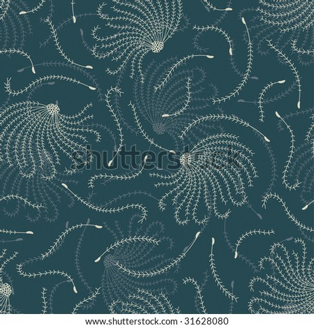 seeds pattern in floral style - stock vector