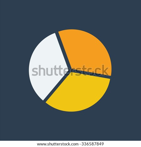 segment pie chart iconcircle diagram business stock vector 336587849