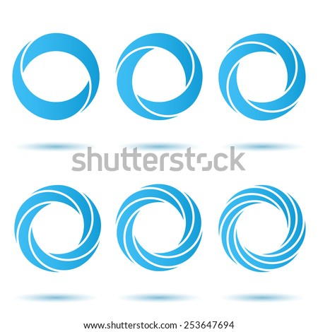 Segmented o letter set, 3d illustration, isolated, vector, eps 8 - stock vector