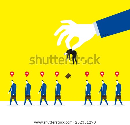 Selecting and fall into disuse - stock vector