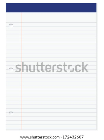 Selection of office of white paper. Vector illustration.