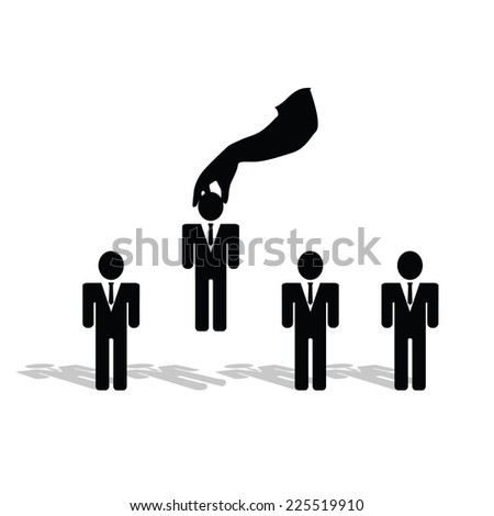 selection of people symbol vector silhouette - stock vector
