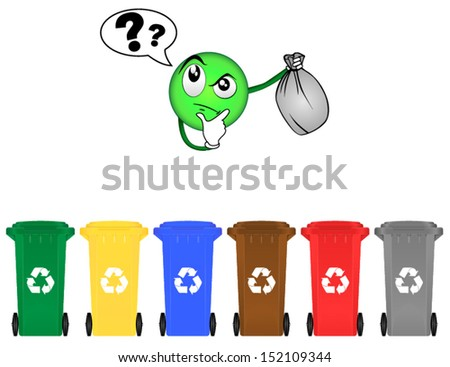 Selective sorting - stock vector