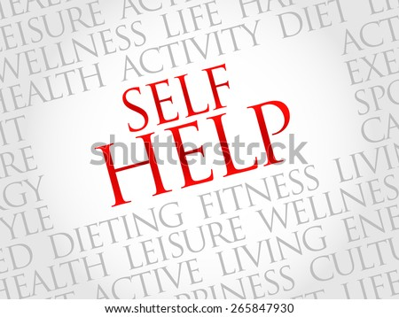 Self Help word cloud, health concept - stock vector