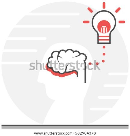 Self Expression Vector Line Icon เวกเตอร์สต็อก 597310235 ...
