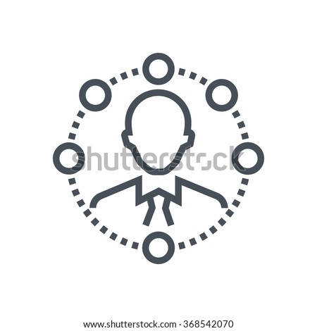 Self organisation icon suitable for info graphics, websites and print media and  interfaces. Line vector icon. - stock vector