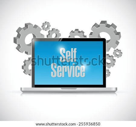 self service computer technology illustration design over a white background - stock vector