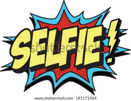 selfie - stock vector
