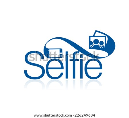 Selfie Icons and Vector Logo Design Element. - stock vector