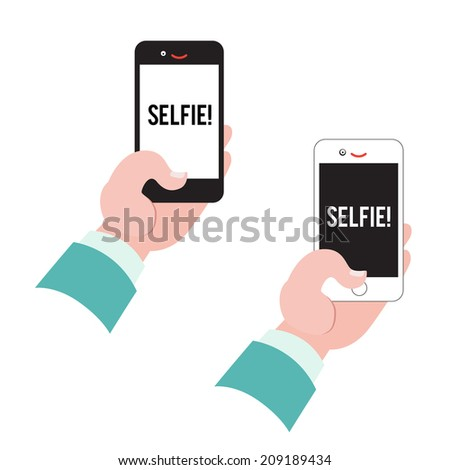 Selfie sign ot label collection vector mix