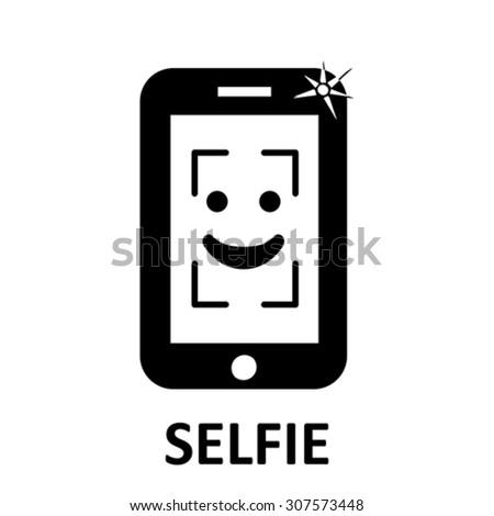 Selfie. symbol, vector - stock vector