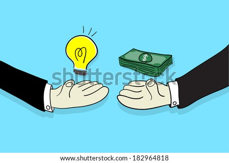 Sell an idea - stock vector