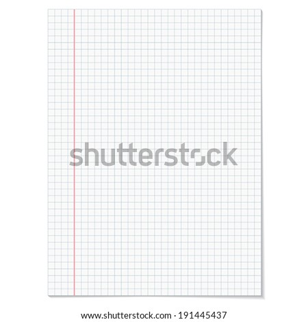 Sells notebook paper on white background.    Vector illustration.