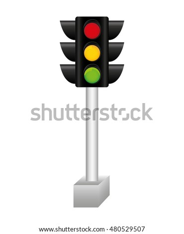 semaphore traffic light isolated icon vector illustration design