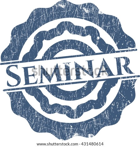 Seminar grunge stamp - stock vector