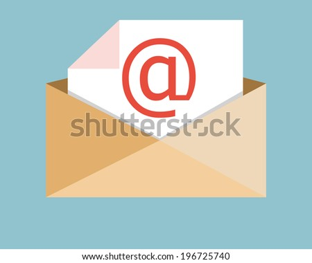send Electronic mail retro clear style  - stock vector