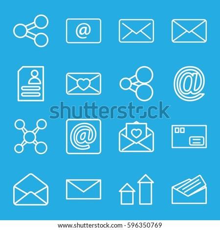 Send Icons Set Set 16 Send Stock Vector (Royalty Free) 596350769 ...