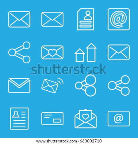 Send Icons Set Set 16 Send Stock Vector (Royalty Free) 660002710 ...