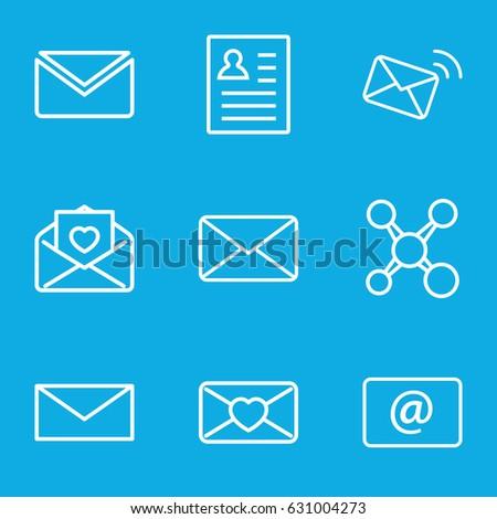 Send Icons Set Set 9 Send Stock Vector 631004273 - Shutterstock