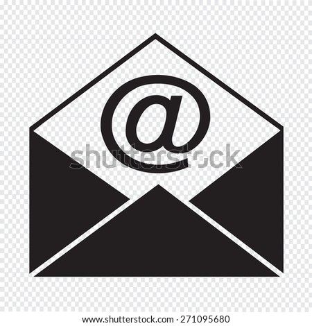 Sending email and envelope icon - stock vector