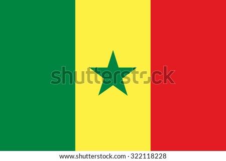 Senegal Flag - stock vector