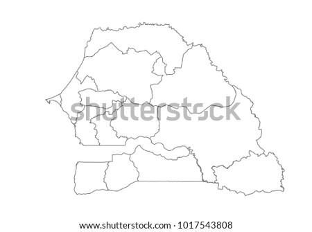 Senegal Map Stock Images RoyaltyFree Images Vectors Shutterstock - Senegal map vector