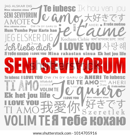 Seni Seviyorum I Love You In Turkish In Different Languages Of The World