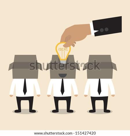 Senior adviser give an idea to young businessman - stock vector