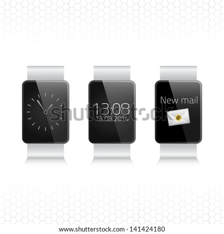 Sensor watch set in vector - stock vector