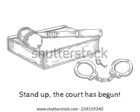sentencing court - stock vector