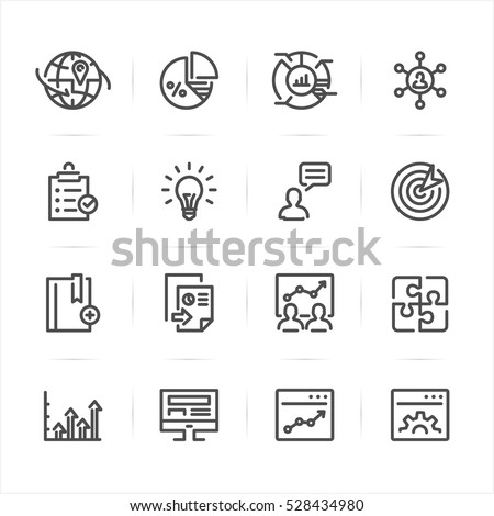 SEO and Development icons with White Background