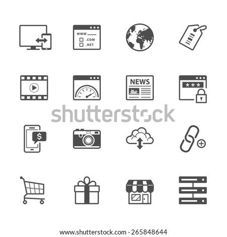 SEO and Internet Icons - stock vector