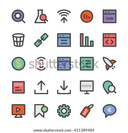 SEO and Marketing Vector Icons 5