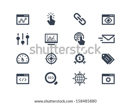 SEO and optimization icons - stock vector